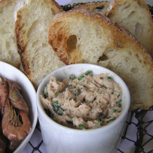 recette de beurre de crevettes grises pour l'apéritif