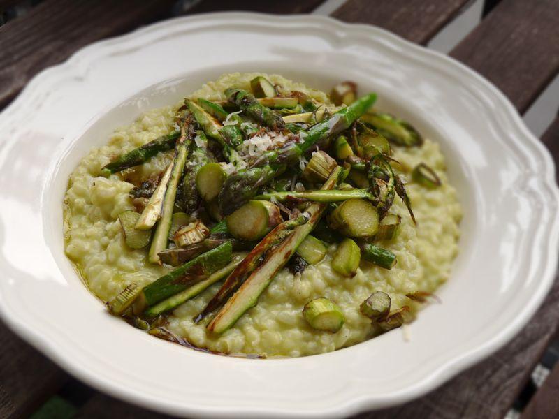 recette de risotto vert aux asperges vertes
