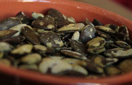graines de courge au wasabi