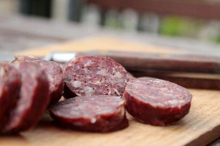saucisson de viande de cerf