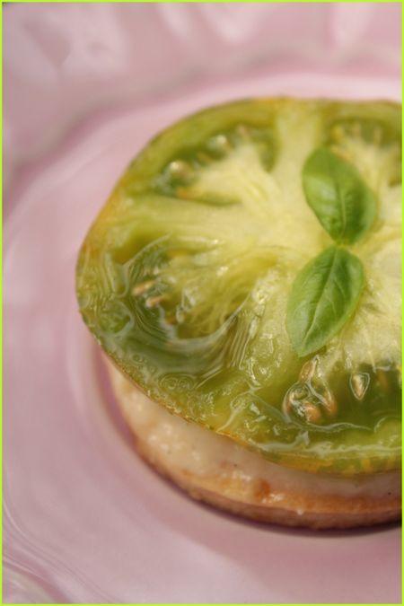 Tartelettes à la tomate verte 1