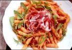 Recette de penne rigate à la pancetta recette de pâtes pour l'été
