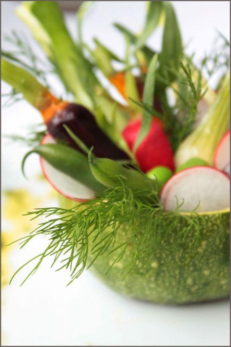 courgette rôtie aux petits légumes