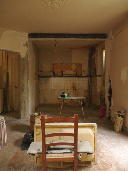 travaux de la future cuisine Issy les Moulineaux