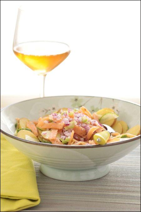 Salade de saumon gravlax
