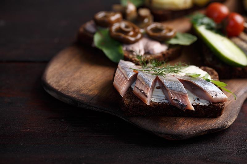 Smørrebrød aux harengs