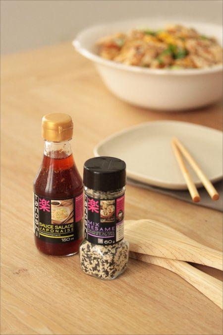 bouteilles de condiments japonais tanoshi