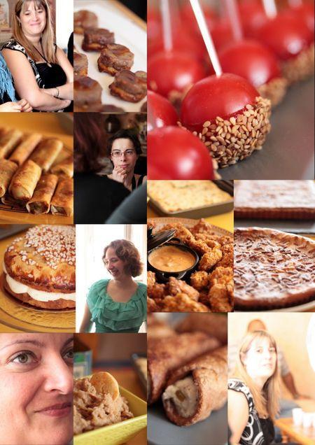 pique-nique de blogueuses montage photo de recettes