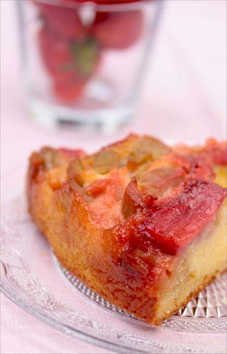 Gâteau Tatin Fraise Rhubarbe 5