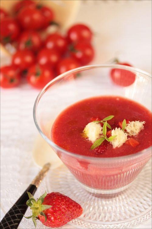 Gaspacho fraises verveine