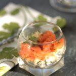 Tartare de saumon fumé en verrines ©panierdesaison