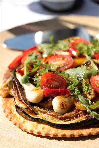 Tarte fine aux légumes grillés 1
