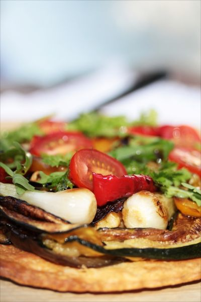 Tarte fine aux légumes grillés 2