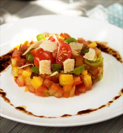 Tartare de tomates multicolores 2