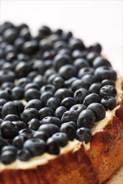 gâteau au fromage et aux myrtilles