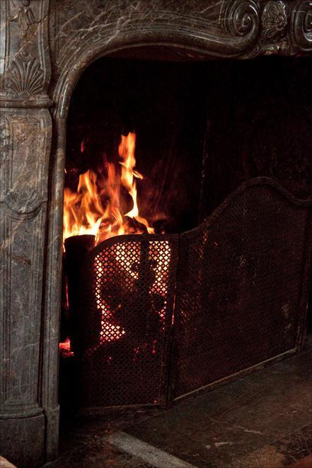 feu de cheminée jardin potager du château du Gros Chesnay à Fillé-sur-sarthe