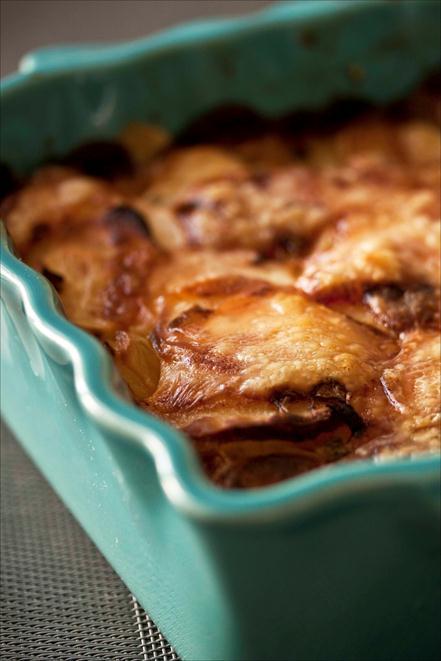 gratin de pommes de terre au cantal, la recette