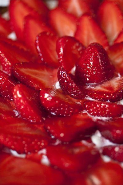 Tarte aux fraises, ricotta et citron vert 2