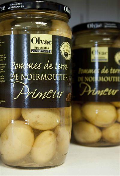 bonnottes de Noirmoutier en conserves en bocal