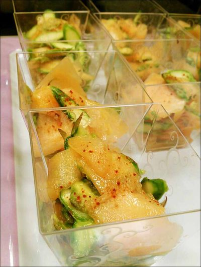 Salade de melon et asperges vertes