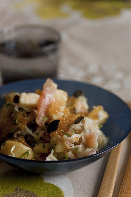 Salade de choucroute aux oeufs de truite 1
