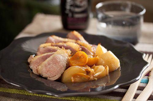 la recette du filet de canard aux kumquats