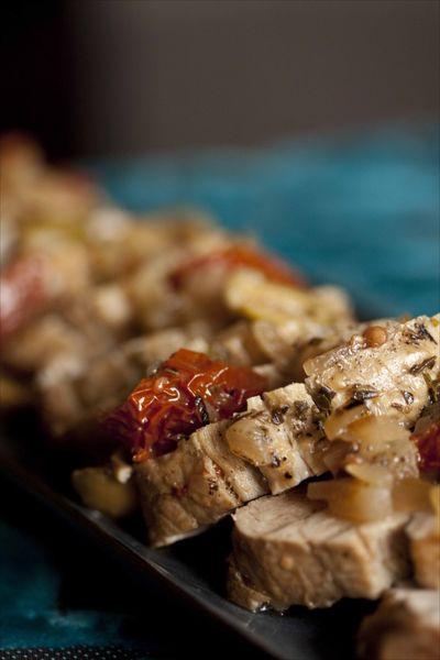 Filet mignon cuit en cocotte aux tomates séchées, ma recette provençale de filet mignon de porc