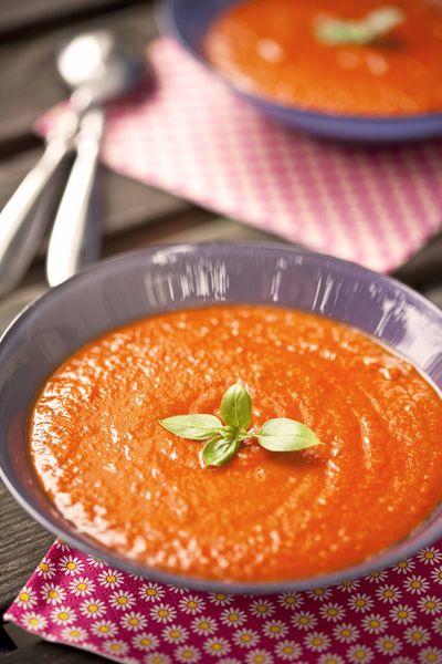 soupe glacée à la tomate comme un gaspacho cuit