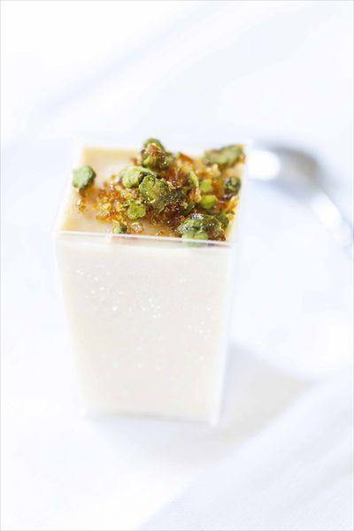 Kulfi cardamome et nougat noir aux pistaches