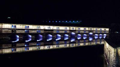 Strasbourg Pont couvert de nuit