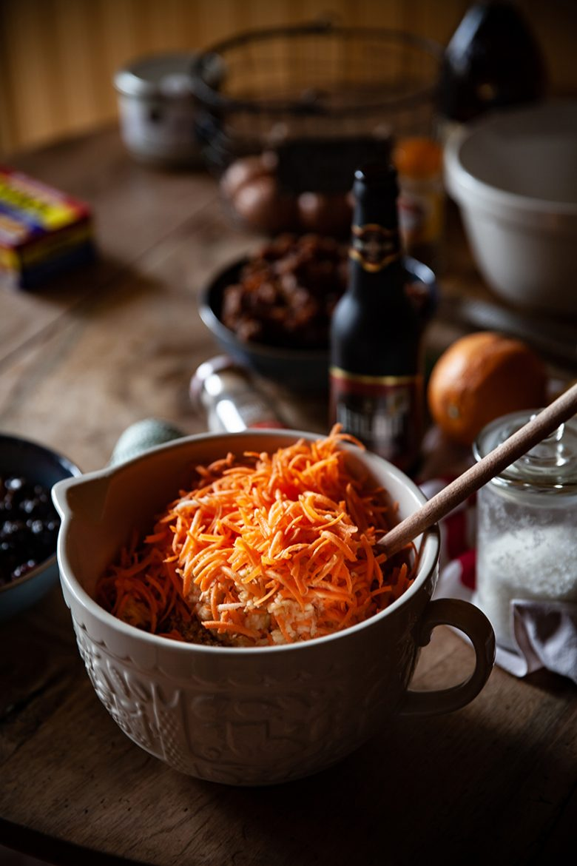 Mes ingrédients bonus dans mon véritable Christmas Pudding anglais: carottes et pommes râpées