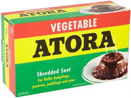 Graisse végétale en vermicelles de la marque Atora pour le véritable Christmas Pudding anglais version vegan