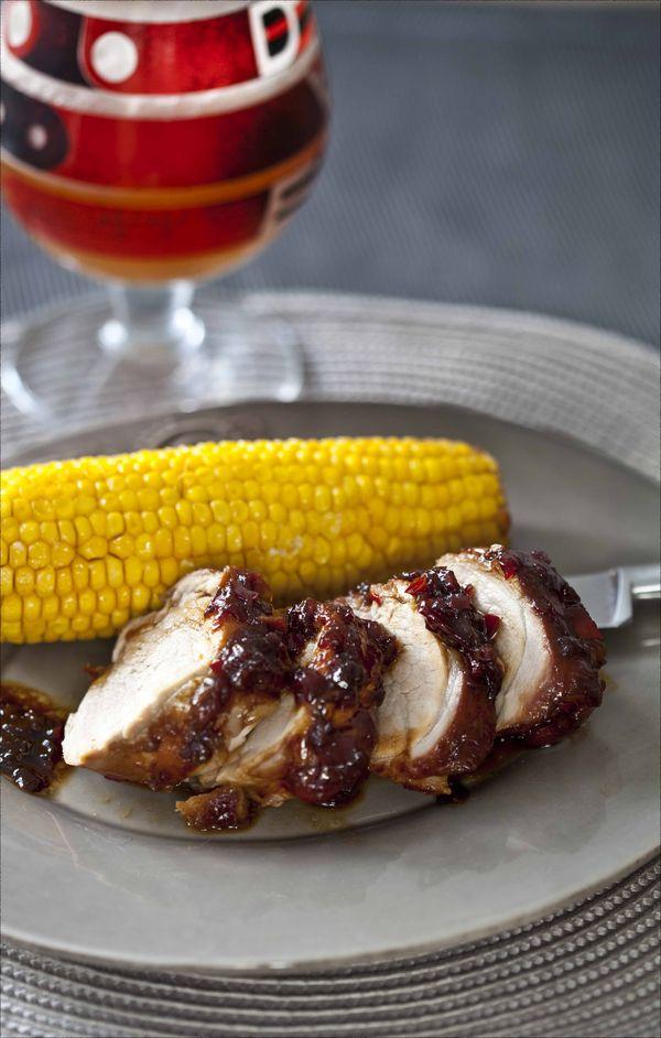 Filet mignon de porc à la sauce BBQ et maïs rôti au four 1