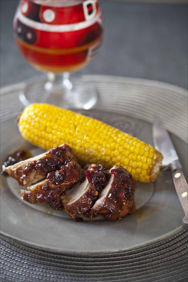Filet mignon de porc à la sauce BBQ et maïs rôti au four 2
