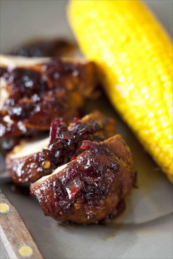 Filet mignon de porc à la sauce BBQ et maïs rôti au four 3