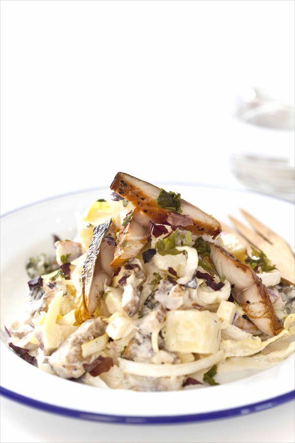 Salade de maquereaux fumés à la sauce gravlax 2