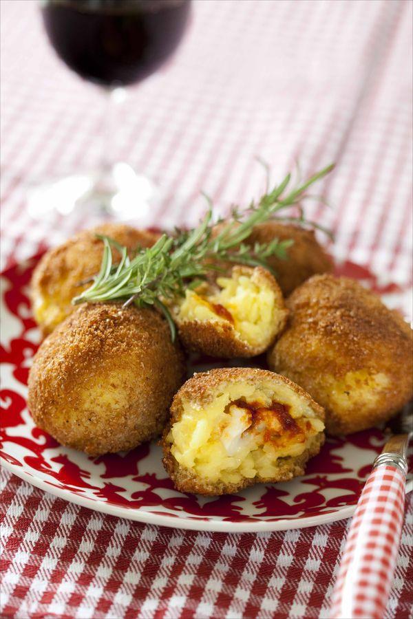 Arrancini au fromage et à la tomate 3