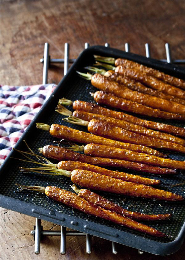 Bavette grillée carottes rôties au four 2