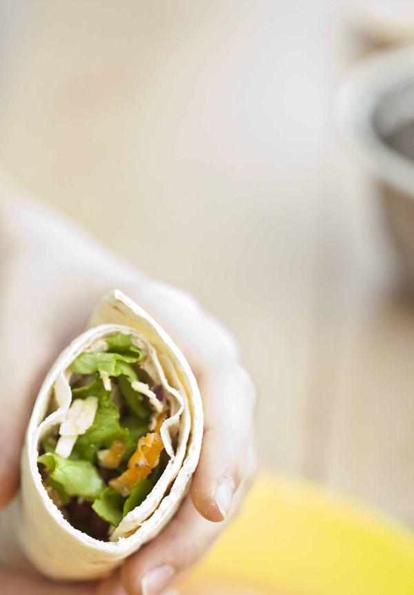 Burritos sandwichs au poulet pimenté 2