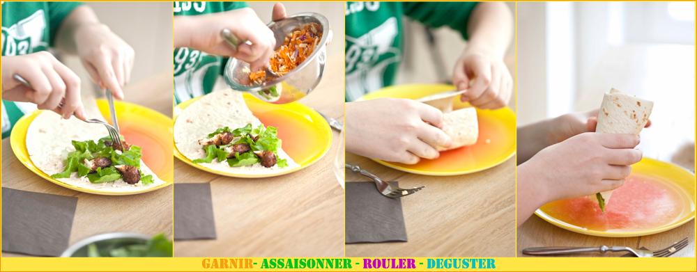 Burritos sandwichs au poulet pimenté 5