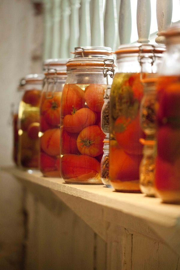 Bocaux de tomates