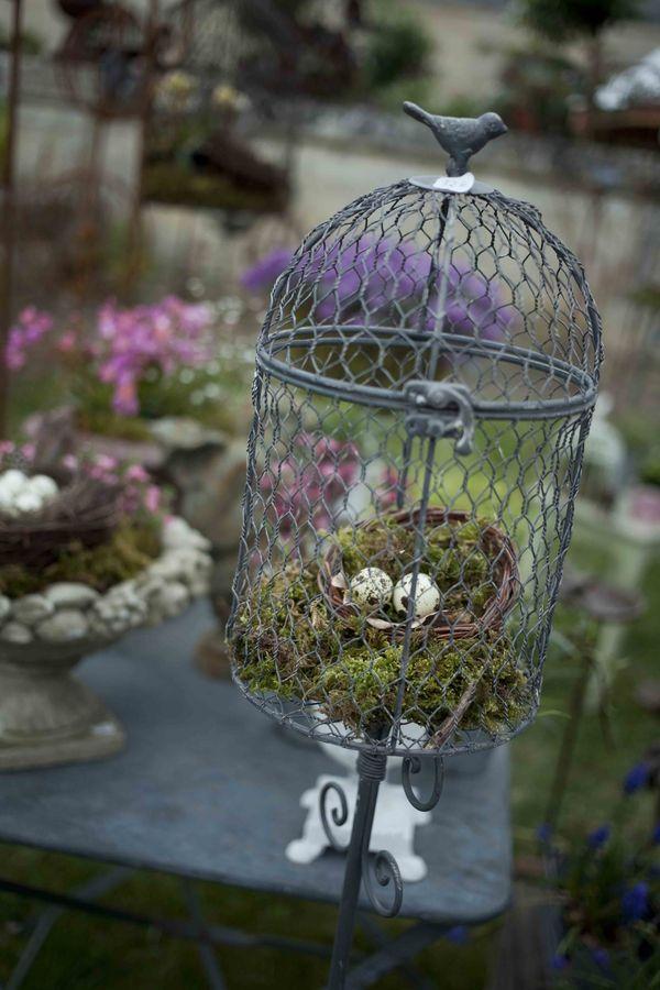 Déco jardin cage oeufs garden
