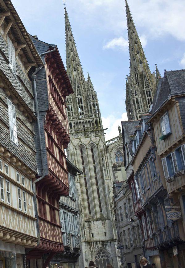 Flèches Cathédrale Saint-Corentin Quimper