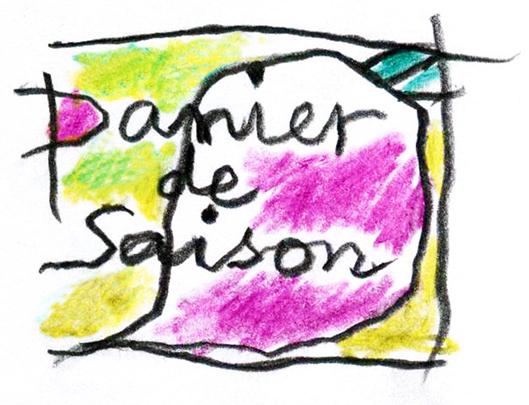 le logo du blog panier de saison dessiné par Jean Reverdy
