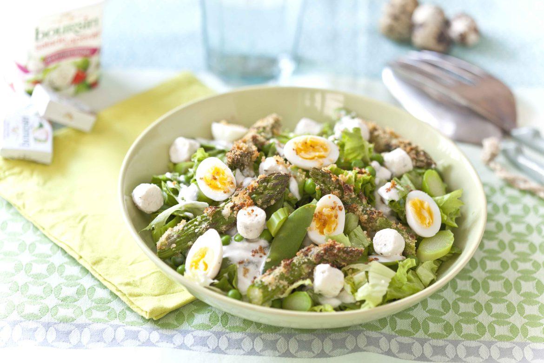 recette de salade de légumes de printemps au Boursin