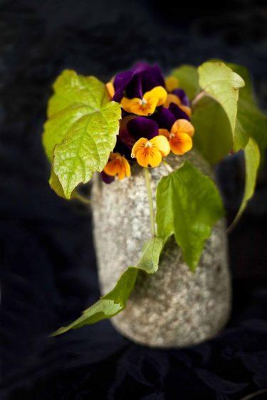 bouquet de fleurs de pensées
