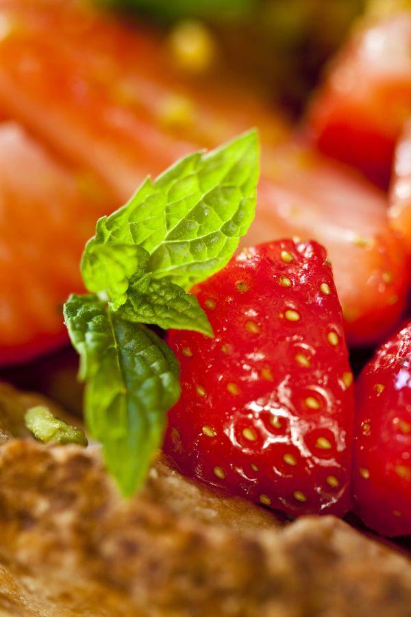Tarte cheesecake aux fraises et à la pistache 2