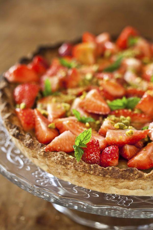 Tarte cheesecake aux fraises et à la pistache 3
