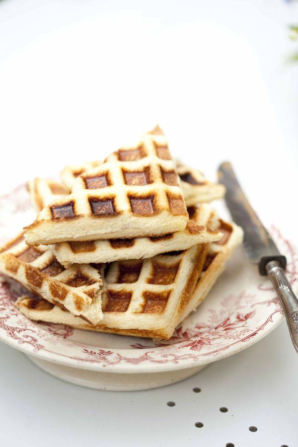 Gaufre fourrée à la vanille recette express au pain de mie 2