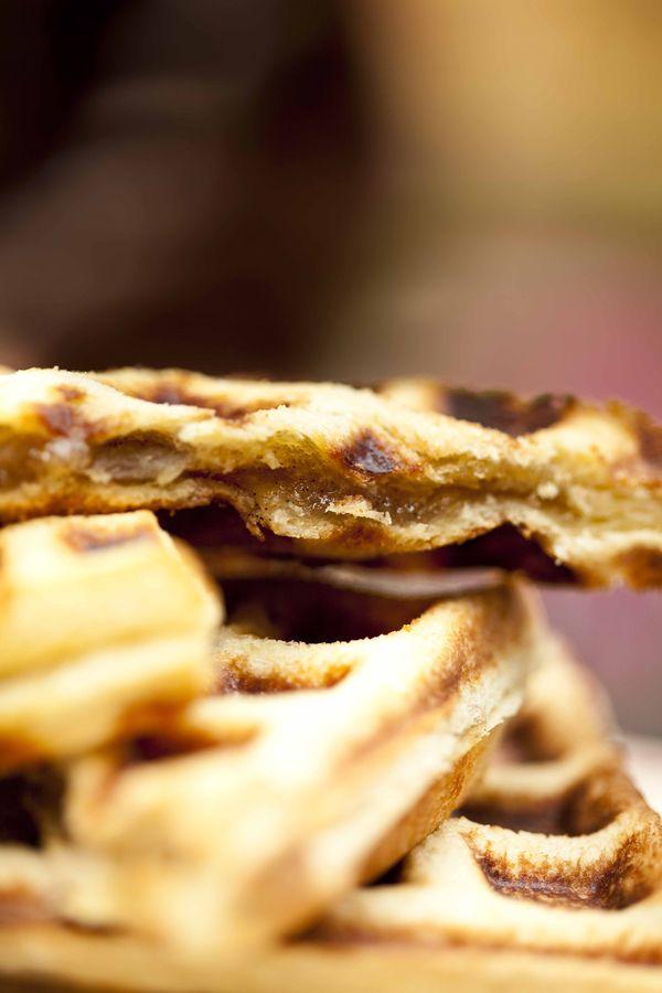 Gaufre fourrée à la vanille recette express au pain de mie 3